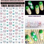 stickers ongles chat TOP 1 image 2 produit