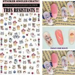 stickers ongles chat TOP 1 image 3 produit