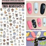 stickers ongles chat TOP 1 image 4 produit